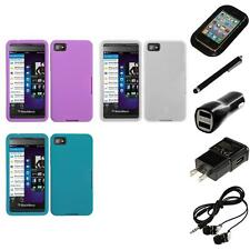 For BlackBerry Z10 Silicone Skin Rubber Soft Case Phone Cover Headphones