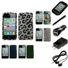 For Apple iPhone 4/4S Design Snap-On Hard Case Phone Skin Cover Headphones
