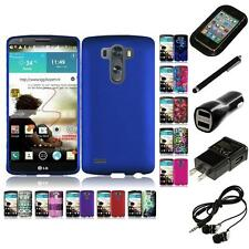 For LG G3 Snap-On Design Rubberized Hard Phone Case Cover Headphones