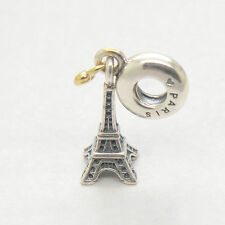 Genuine Authentic S925 Silver EIFFEL TOWER SILVER DANGLE WITH CHARM Bead