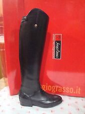 NEW SERGIO GRASSO YOUNG FIELD BOOTS TALL BLACK LEATHER 34/35 (US 4/5) LS 41/30