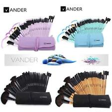 Vander 32pcs Professional Soft Make Up Eyebrow Shadow Makeup Brush Sets Kit Case