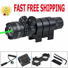 Powerful Tactical Hunting Rifle Green Laser Sight Dot Scope Adjustable - Mounts