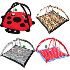 Pet Cat Play Tent Bed Fun Activity Toys Kitten Pad Cushion Exercise Cute Gift