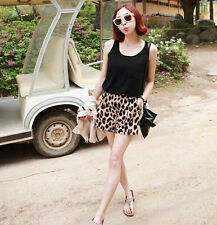 New Women's High Waist Shorts Stretchy Summer Leopard Print Shorts Hot Pants D