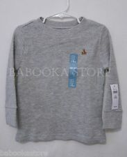 Baby Gap Boys Waffle Top Long Sleeve Grey Tee Top 2T, 3TNWT