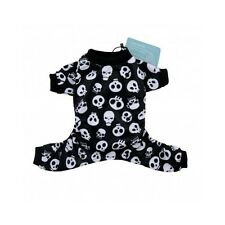 Dog Skull Clothes Skeleton Pajamas Pet Apparel Black Jumsuit Canine Puppy Gift