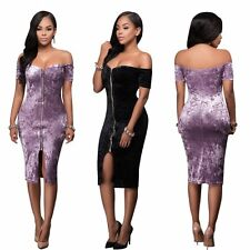 Women Sexy Off Shoulder Cocktail Pencil Dress Evening Party Strapless Clubwear