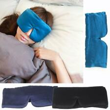 Silk Eye Mask Padded Sleep Travel Shade Cover Relax Sleeping Blindfold Blinder