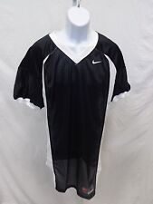 College Authentic Blank Football Jersey Black with White Trim Pro Cut
