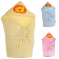 Newborn Baby Soft Swaddle Wrap Swaddling Receiving Blanket Hooded Sleeping Bag