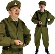 Mens WW1 WW2 1940s Home Guard Army Armed Forces Fancy Dress Costume Outfit M-XL