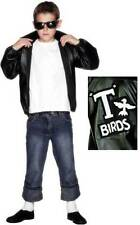 Boys Official Licensed Grease T-Bird 1950s Film Fancy Dress Costume Outfit 6-12y