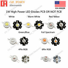 10PCS 1W High Power White Royal Blue Orange RGB  LED Chip Light 20mm Star PCB