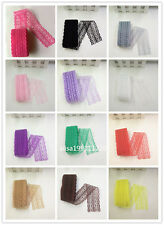 Free shipping 10-100 yards net embroidery lace ribbon lace bilateral 16 colors