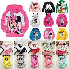 Cute Baby Kids Girls Mickey Minnie Hoodies T Shirt Tops Pants Dress Outfits Set
