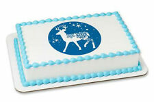 Deer Reindeer edible image cake topper frosting sheet icing personalized #19178