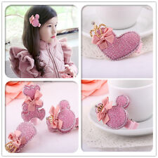 10pcs/Lot Shiny Pink Cartoon mickey Baby Kids Girls Hair accessories Hair Clips