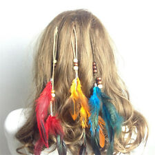 9.84 Inches Clip In On Hair Extension With Feather Synthetic Strip Highlight
