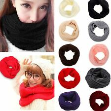 Winter Long Infinity Circle Cable Shawl Knitting Wool Scarf Neck Cowl Collar