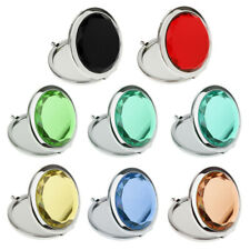 Outdoor Travel Cosmetic Make up Magnifying Compact Pocket Purse Metal Mirror