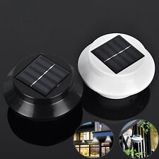 Solar Powered 3 LED Outdoor Fence Sink Wall Light Garden Gutter Path Yard Lamps