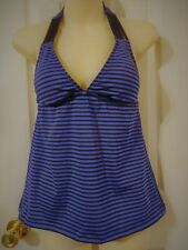 Mossimo Tankini  Swimsuit Top   Small ~ Large Black Striped  New