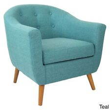Teal Accent Chair Mid Century Modern Retro Contemporary Furniture Seat Seating
