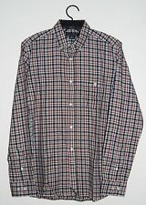 French Connection FCUK Men's Lifeline Shirting Red Plaid LS Button-Down Shirt XS