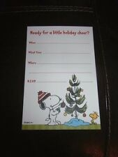 Peanuts Snoopy Holiday Party Invitations - You Pick - Charlie Brown Christmas