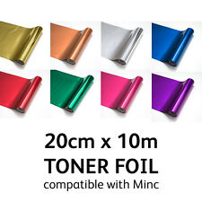 TONER FOIL for Laser Printer Laminator Minc Machine Heat Transfer 20cm x 10m