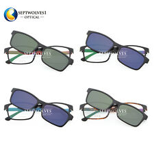 Fashion Ultem Glasses Frame with Magnetic Polarized Mirror Clip on Sunshades