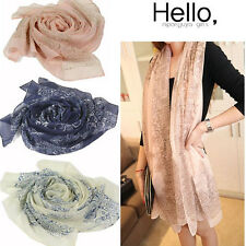 Fashion Long Wrap Women's Shawl Chiffon Scarf Scarves Chinese Style Painting Hot
