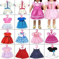 "16 Color Lovely Floral Dress Doll Clothes Costume For American Girl 18"" Doll DIY"