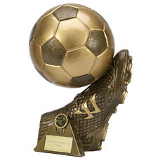 "FOOTBALL Soccer Boot Ball 3D Trophy 7.25"" 8.25"" 9.25"" 12"" FREE ENGRAVING Award"