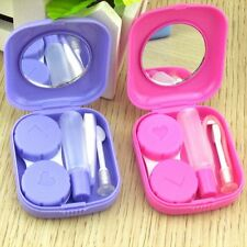 Container Mini Storage Case Solution Bottle Mirror Contact Lens Box Tweezers