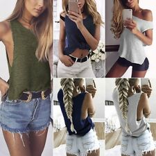 Sexy Knitted Blouse Tops Women Casual Loose Sleeveless Vest T-shirt Clubwear