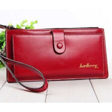 Women Wallets Solid Leather Hasp Zipper Clutch Female Mobile Bags Money Purse