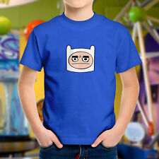 Adventure Time Frustrated Grumpy Mad Mood Finn Face Kids Boys Youth Tee T-Shirt