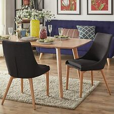 Two Dining Chairs Dark Gray Oak Barrel Back Side Chair Accent Dining Furniture