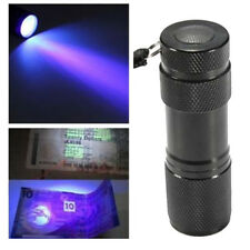 Fashion Portable Lamp Flashlight UV Light Blacklight 9 LED Torch