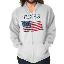 Texas Patriotic Home State American USA T Shirt Flag Gift Zipper Hoodie