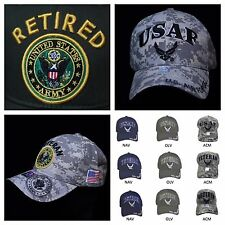 Baseball Caps U.S. Air Force Army Veteran Retired Caps Military Camo Ball Cap