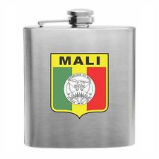 Mali Football Stainless Steel Hip Flask 6oz international soccer gift