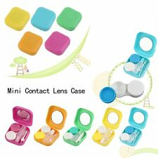 Plastic Mini Contact Lens Case Outdoor Travel Contact Lens Holder Container BE