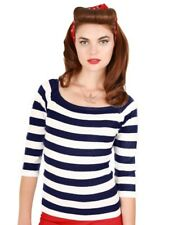 Collectif Nautical Marina Navy Blue and White Striped Jumper