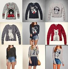 NWT Abercrombie & Fitch Hollister Sweater dog giraffe bear cardigan sz XS S M