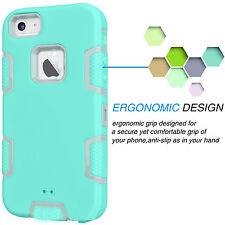 Shockproof Hybrid Rubber Hard Cover Case For Apple iPhone 5C w / Screen Protect
