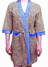 Ladies 100% Cotton Floral Animal Print Dressing Gown Housecoat Bath Robe