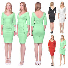 WOMENS VINTAGE RETRO 1960S DRESS PENCIL WIGGLE COCKTAIL PARTY FORMAL DRESSES